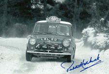 Paddy Hopkirk Hand Signed Mini Cooper Photo 12x8 5.