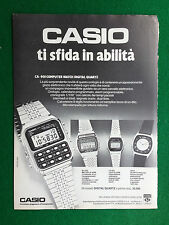 PV142/143 Pubblicità Advertising Clipping 31x23 cm  CASIO DIGITAL QUARTZ OROLOGI
