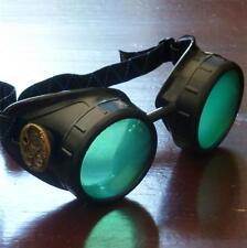 Steampunk goggles glasses welding diesel punk biker goth cosplay rave lens owp