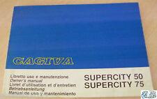 CAGIVA libretto uso e manutenzione SUPERCITY 50/SUPERCITY 75