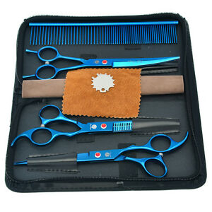 """7.0"""" Professional Pet Grooming Scissors Set for Haircut Dog Hairdressing Tools"""