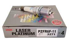 4 Pack - NGK Spark Plugs 3271/PZFR6F-11 Laser Platinum