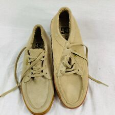 DC Shoes Suede Top Fleece Lined Tan Skater Shoes  Size 8