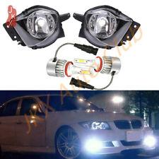 Pair LED Front Bumper Lamps Fog Light For 2006-2008 BMW E90 325i 328i 330i 335i