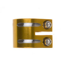FLAVOR SCOOTER DOUBLE CLAMP GOLD - 31.8 - STANDARD SIZE - Free Shipping