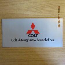 MITSUBISHI COLT Lancer Galant Celeste Range UK Market Car Sales Brochure 1970s