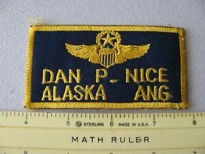 OLDER ALASKA AIR NATIONAL GUARD PILOTS NAME TAG UNIFORM PATCH COMMANDER AKANG