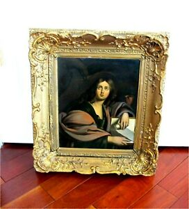 """18th Century Antique Dutch Painting Oil On Cooper  """"ST. MARK"""""""