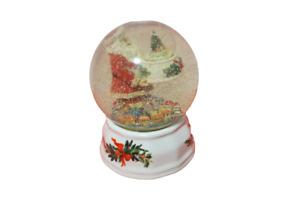 Pfaltzgraff Christmas Musical Snowglobe Santa Inside Globe Holding Globe Video