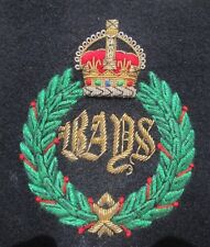 2nd Dragoon Guards.The Queens Bays . Embroidered Blazer Badge