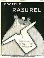 Publicité ancienne docteur Rasurel gilet mode 1929 issue de magazine