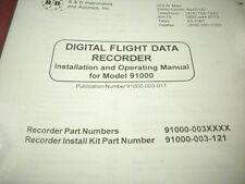 B & D Instruments Digital Flight Data Recorder 91000 Series Install Manual