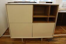 Aura Tall Cabinet - White/Oak - DWR Design Within Reach Treku