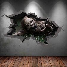 3D Couleur Zombie Mort de Marche Apocalypse Fissuré