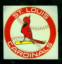 "1970's/80's St. Louis Cardinals 4"" baseball decal"