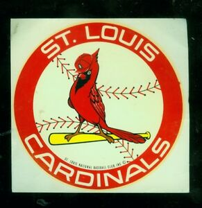 "1970's/80's St. Louis Cardinals 4"" baseball decal"