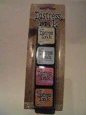 TIM HOLTZ DISTRESS INK MINI PACK KIT #7 TDPK40378 BNIP 4 MINI INK PADS *LOOK*