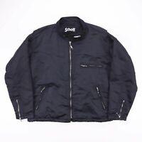 Vintage SCHOTT NYC Black Nylon Quilted Bomber Jacket Size Women's XL