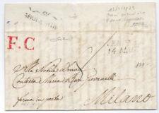 Prefilatelica prephilatelic 13 Maggio 1833 da Verona a Milano