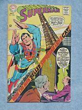 Superman # 208 VG/FN  Neal Adams Cover! Curt Swan! Otto Binder! JULY 1968