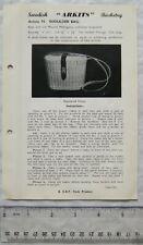 Vintage leaflet: Swedish Arkits Basketry - shoulder bag, 74