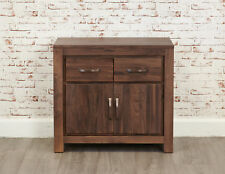 Solid Chunky Walnut Small Sideboard Cupboard Cabinet Unit | Baumhaus Range