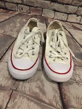 Converse Chuck Taylor All Star Low Top Women's Size 6 White Tennis Shoes Men's 4