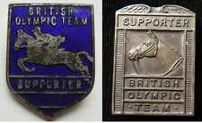 1960 Olympic Games Rome ORIGINAL BRITISH OLYMPIC TEAM SUPPORTER EQUESTRIAN PINS