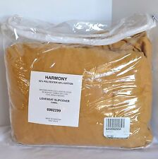 Harmony Loveseat Slipcover Protective Cover Camel Country Chic 1 Piece Tieback