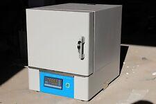 New 220V 2L Ceramic Fiber Muffle Furnace 1200℃ 2.5KW 8×4.8×3.2″ 20×12×8cm