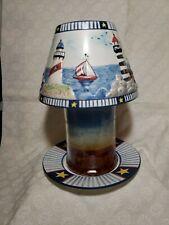 Yankee Candle Lighthouse Design Large & Medium Jar Candle Shade And Plate