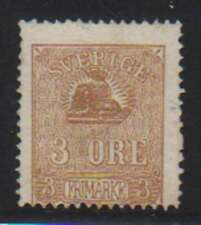 A7805: Sweden #13 Mint, NG, Sl Thin; CV