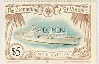 St Vincent Grenadines #237 MNH Specimen CV$2.20 MV Geetstar