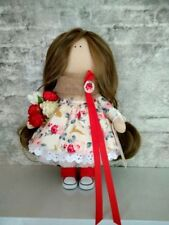 Exclusive Eco Handmade Tilda style Doll -Gift-made of natural materials!