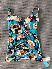 Seafolly Tankini Top Swimsuit Size 12DD BNWT