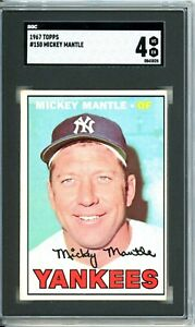 """1967 Topps MICKEY MANTLE  #150 SGC Grade 4 VG-EX Cond """"CLASSIC MANTLE"""""""