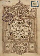 Compendio das Armas (Fencing Treatise) by Jose de Barros Paiva