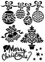 STENCILS CRAFTS TEMPLATES SCRAPBOOKING CHRISTMAS STENCIL - 6 - A4 MYLAR