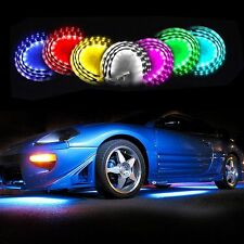 Zone Tech 7 Colors LED Neon Strip Underglow Under Car Body Glow Light Kit