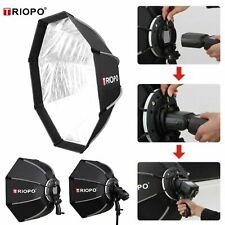 Triopo 90cm Softbox Octagon Umbrella Bracket Hand Grip Softboxes for Speedlight