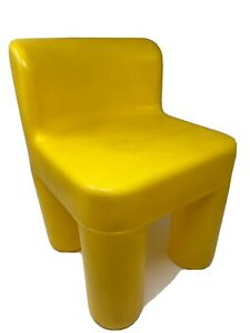 Little Tikes Yellow Childs Chair Chunky Sturdy Plastic Retired Kids Toddler Vtg