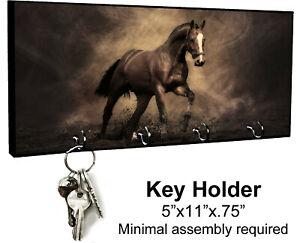 KEY HANGER HOLDER RACK - HORSE #1 Equestrian Rider Colt Filly Pony Mare Gift