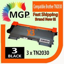 3x TN 2030 COMPATIBEL TONER CARTRIDGE for Brother Monochrome Laser HL-2135W