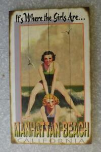 "Manhattan Beach California CA 1920s Bathing Beauties lg Wall Art Print 18 x 30"""
