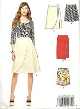 NEW LOOK 6326 FAUX WRAP SKIRT SEWING PATTERN 10 12 14 16 18 20 22 MODERN N6326