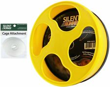 """Silent Runner Wheel 9"""" + Cage Attachment - Durable & Quiet - Hamster Gerbil Mice"""