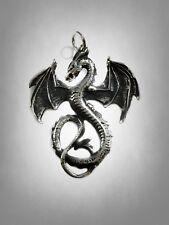 Large Sterling Silver 925 Detailed Dragon Pendant Fireflash Malys  Beryl Sable