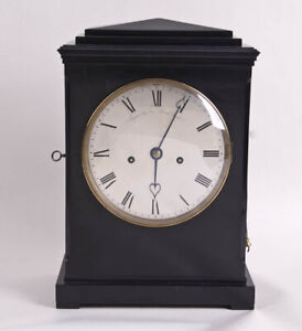 English Regency double chain fusee bracket clock @ 1810 Original Signed Restored