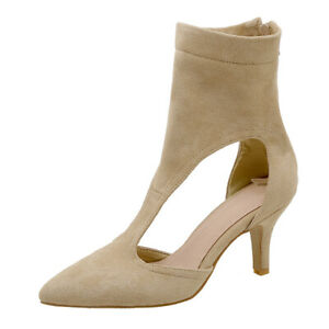 Women's Gladiator Zip Stilettos High Heel Pumps Hollow Out Boots Clubwear Shoes