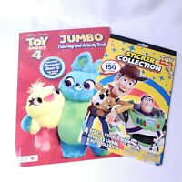 Toy Store 4 Coloring Activity Book and Sticker Collection 150 Stickers